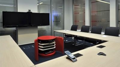 Meuble Hi-Fi pour salle de réunion