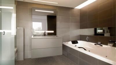 Salle de bain en nuances de gris
